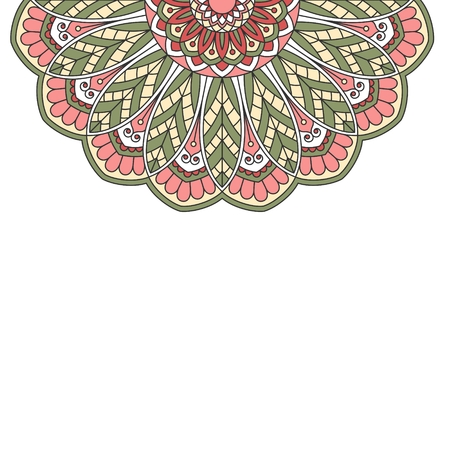 indian pattern: Floral oriental pattern with place for text.