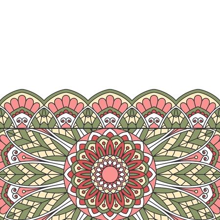 indische muster: Floral orientalischen Muster mit Platz f�r Text.