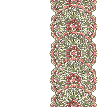 indian traditional: Floral oriental pattern with place for text.