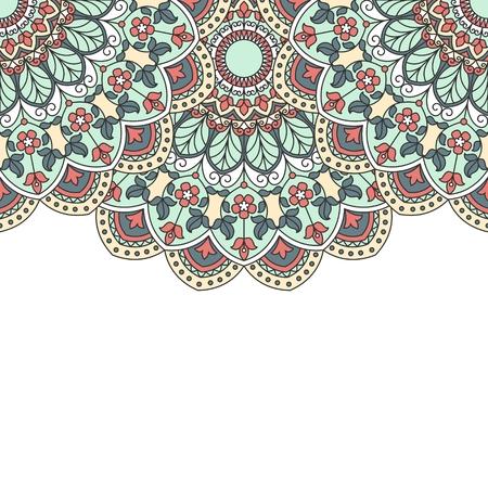 papier a lettre: motif oriental floral avec place pour le texte. Illustration