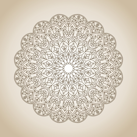 mendie: Ornamental round lace pattern. This is file of EPS10 format.