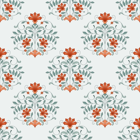 motif floral: Seamless oriental pattern. This is file of EPS10 format. Illustration