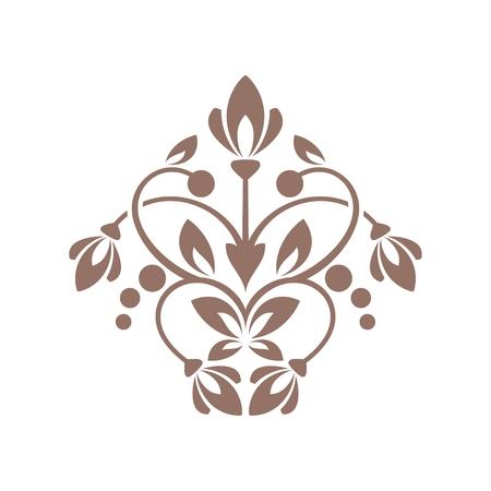 calligraph: Floral element for design in vintage stile. Illustration