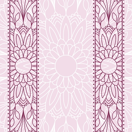 place for text: Floral oriental pattern with place for text.