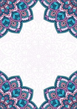 semicircle: Floral oriental pattern with place for text.