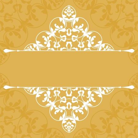 Floral pattern for invitation card. Illustration