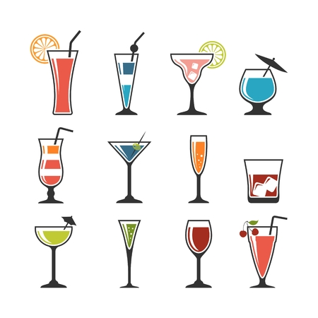 Set of cocktails.