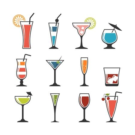 Set of cocktails.