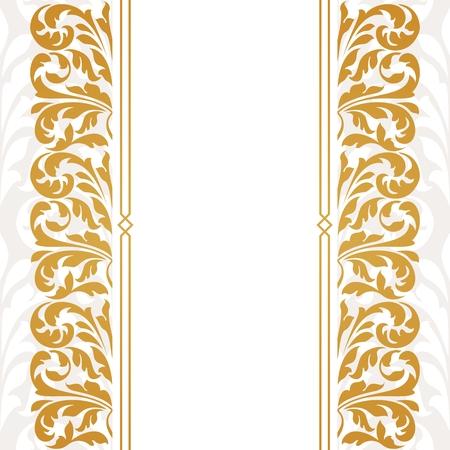 Vintage Border Invitation Card Design Royalty Free Cliparts Vectors