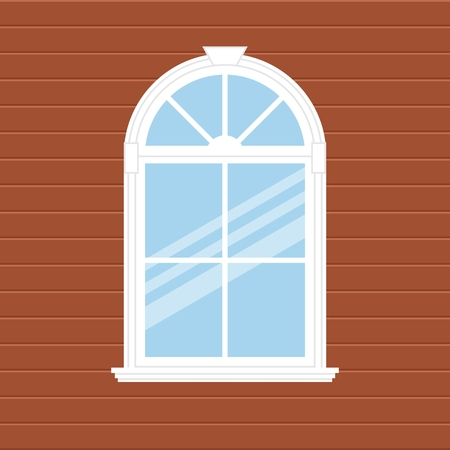 House Facade with a window. Architecture design.