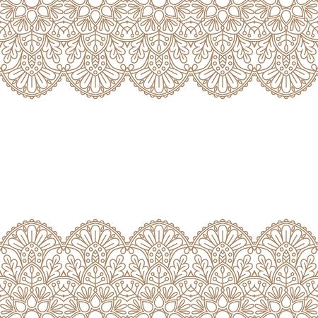 Invitation card with mandala vector illustration.