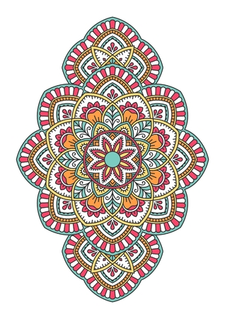 Mandala. Ornamental round pattern. Illustration