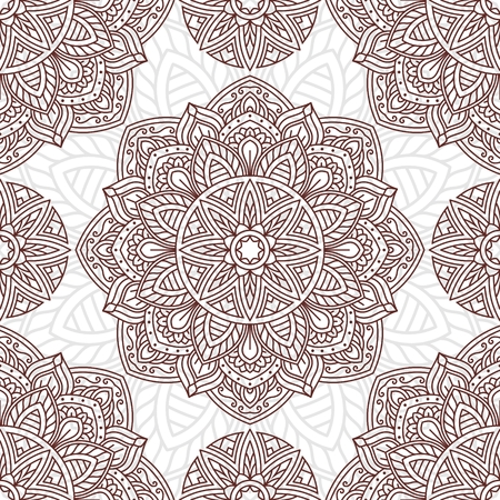 Seamless oriental pattern Vector illustration.