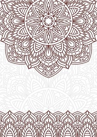 Mandala style invitation card Ilustração