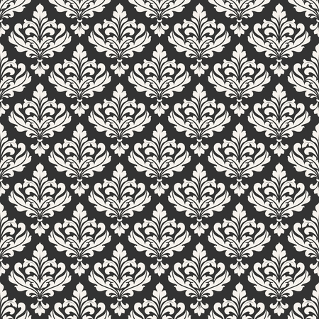 Damask seamless pattern for design. Vintage decorative elements. Illustration