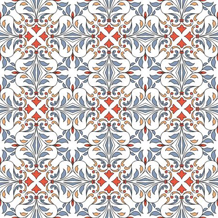 Seamless pattern with floral elements. Seamless template for your design.