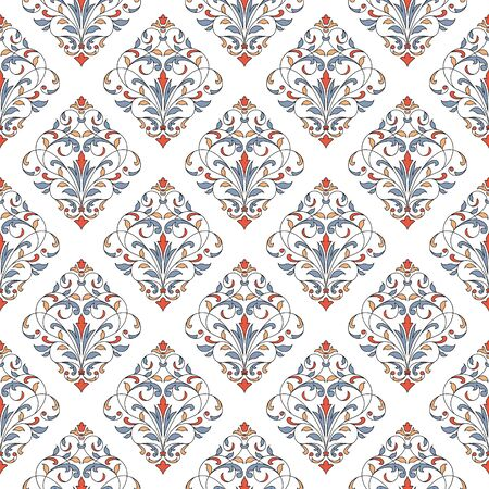 Seamless pattern with floral elements. Seamless template for your design. Foto de archivo - 149362760