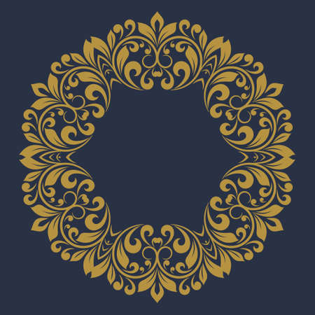Round vintage frame. Template for your design