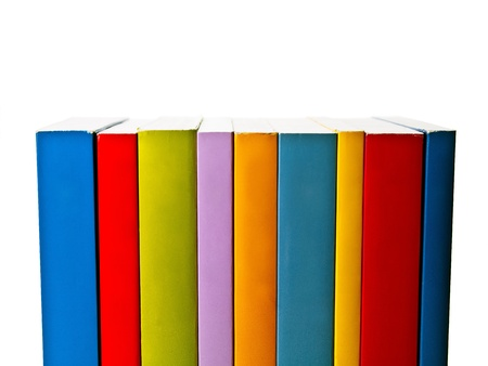 tradional: Books of various sizes lined up neatly