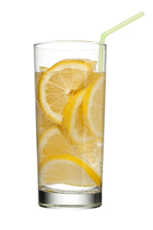 lemonade drink with slices of lemon Stock Photo - 15267131
