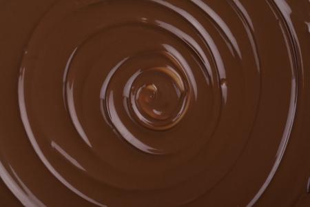 twirling chocolate Stock Photo