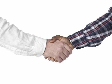Men shaking hands Stock Photo - 15267194