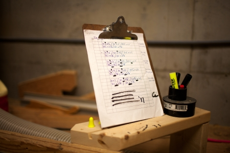 Image of a clipboard and marker. Stock Photo - 15378541