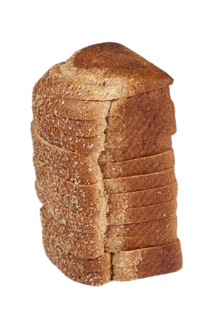 newly baked: A loaf of bread over the white background Stock Photo