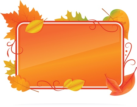 Vector of Autumn Background With Leafs Stock Vector - 15378895