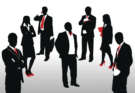 Vector illustration of business people Vector