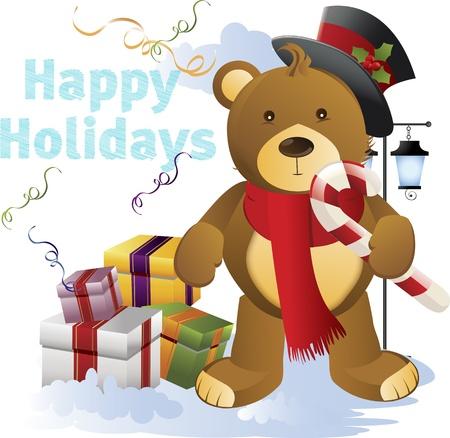 Vector illustratie van Kerstmis achtergrond met Kerstmis motief Stock Illustratie