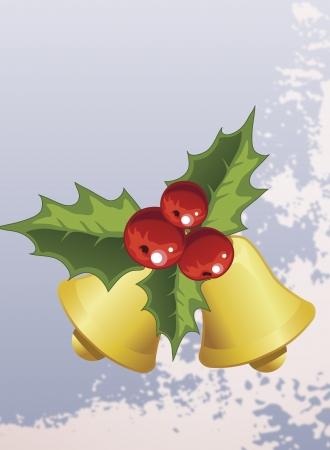 holiday: Christmas bells holiday poster clip-art Illustration