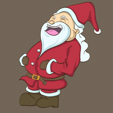 Clip art image of the happy Santa Clause Banco de Imagens - 15378989