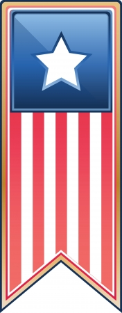 Digitally generated image of a medal with stars and stripes over white.