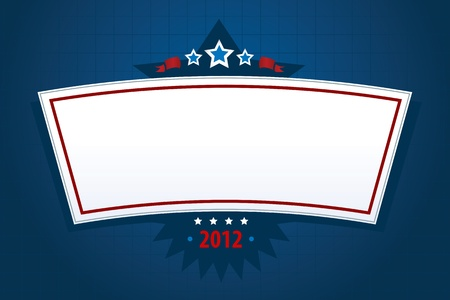 digitally generated image: Digitally generated image of a empty new year or election banner.