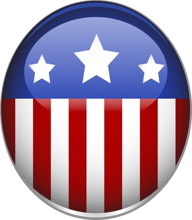 Amerikaanse vlag thema badge.