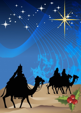 star of bethlehem: Decorative holiday poster vector image