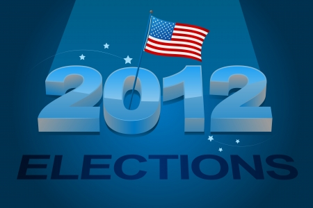 2012 American elections campaign sign Stock Vector - 15378987