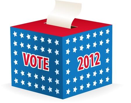 Digitally generated image of a ballot box. Ilustração