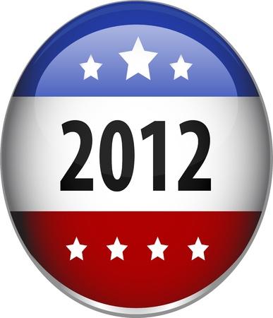 democrats: Imagen generada digitalmente de un brillante 2012 credencial con forma estrellas.