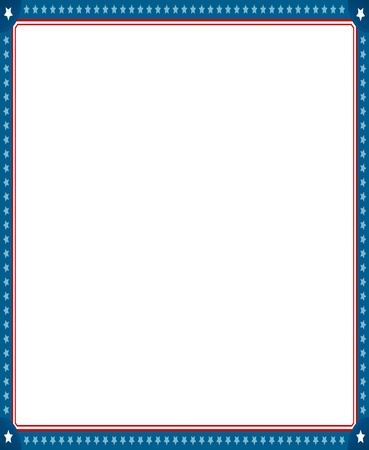 digitally generated image: Digitally generated image of empty photo frame with american flag border. Illustration