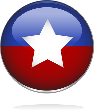 digitally generated image: Digitally generated image of a glossy badge with star shape design. Illustration