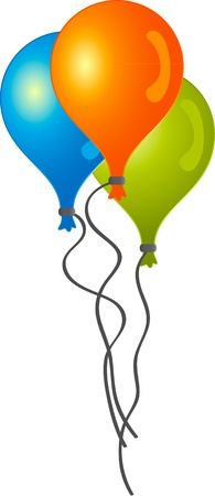 Digital image of balloons.