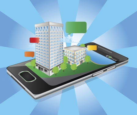 glas: Building at the top of phone