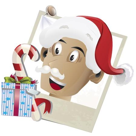 snapshot: Vector illustration of a Santa Claus snapshot