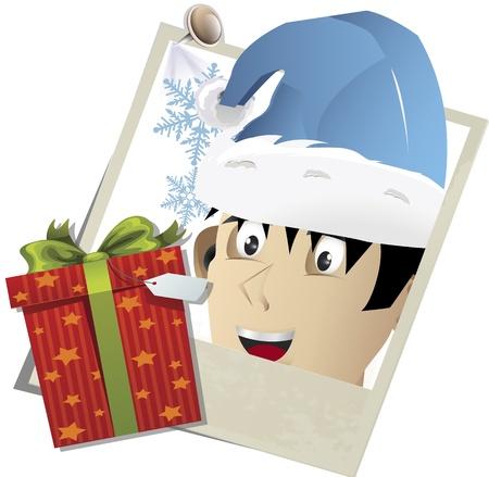 snapshot: Vector illustration of snapshot with Christmas theme