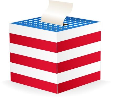 Digitally generated image of a ballot box. Ilustracja