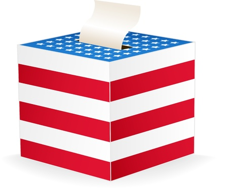 digitally generated image: Digitally generated image of a ballot box. Illustration