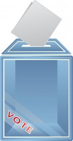 political rally: Цифровой сформированный образ урну для голосования. Иллюстрация