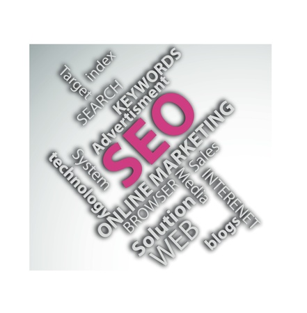 Digitally generated image of online marketing concept